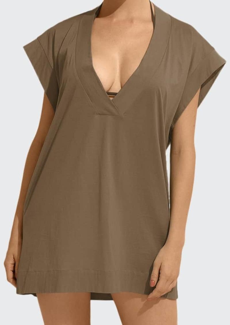 Eres Renee V-Neck Short-Sleeve Coverup T-Shirt