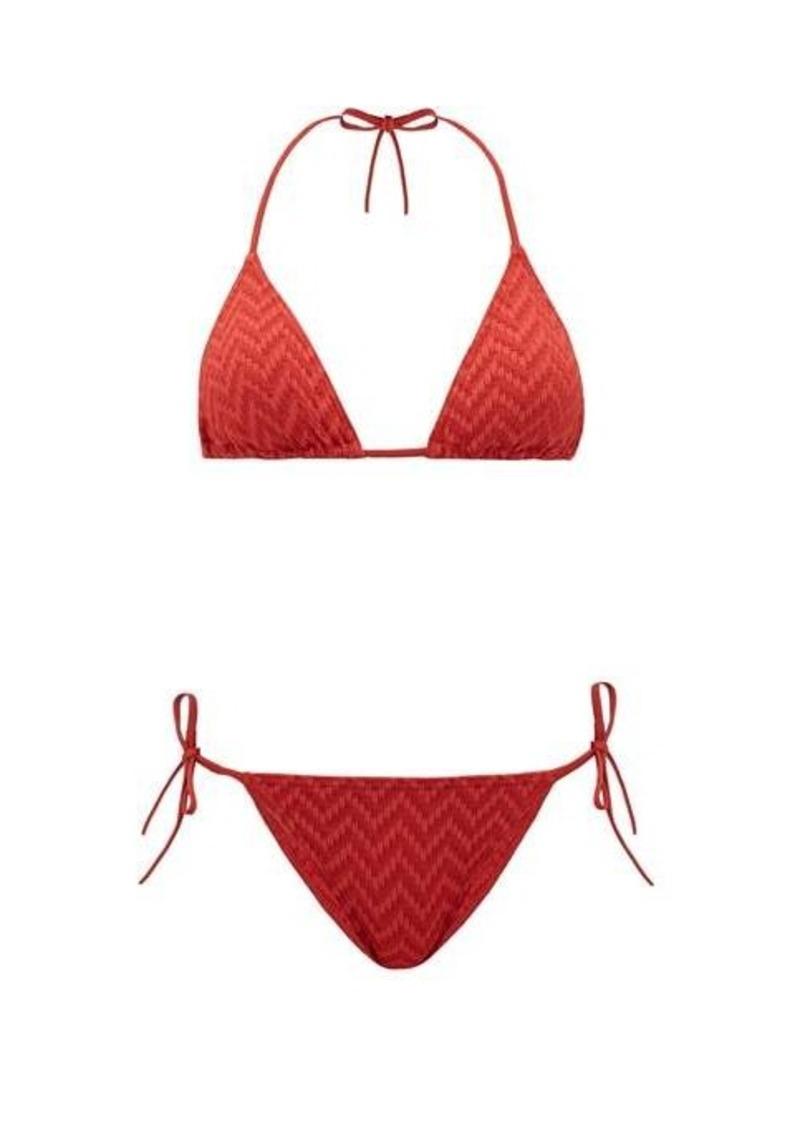 Eres Veston woven-twill triangle bikini