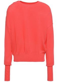 Eres Woman Futile Groom Button-detailed Cashmere Sweater Papaya
