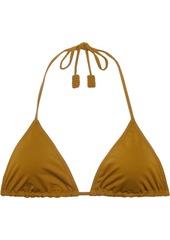 Eres Woman Mikado Genmaicha Triangle Bikini Top Mustard