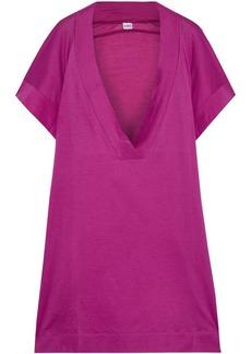 Eres Woman Zephyr Renee Cotton-jersey Kaftan Purple