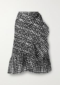 Eres Gazelle Ruffled Printed Cotton-voile Wrap Skirt
