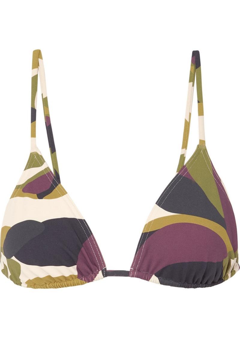 Mouna Camouflage-print Triangle Bikini Top