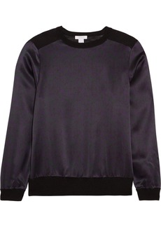 Eres Vibe Cashmere And Printed Silk-satin Pajama Top