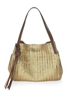 Eric Javits Aura Woven Metallic Tote Bag