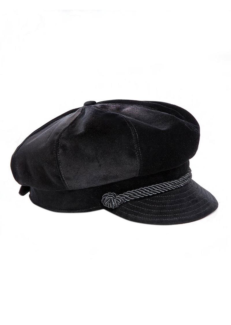Eric Javits Clara Velvet Newsboy Hat