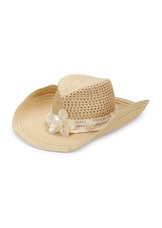 Eric Javits Embroidered Floral Sun Hat
