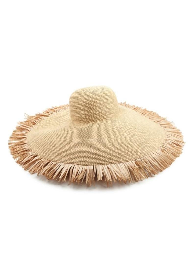 f9772ce40165b Eric Javits Floppy Fringe Straw Sun Hat