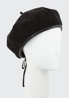 Eric Javits Kate Suede Adjustable Beret Hat