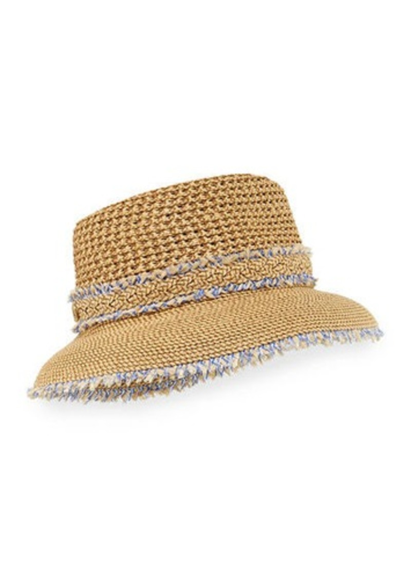 c7c5b063917 Eric Javits Lulu Woven Squishee Bucket Hat