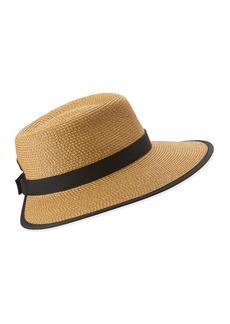 Eric Javits Sun Crest Woven Sun Hat  Natural/Black