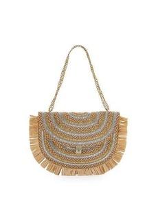 Eric Javits Tiki Fringe Chain Pouch Bag