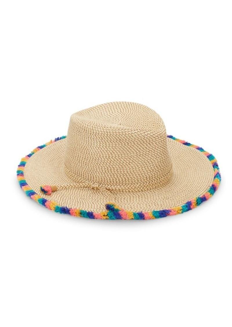 5d90440f6 Frida Pompom Trim Woven Hat