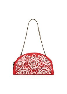 Eric Javits Sandra Embellished Half-Moon Clutch Bag