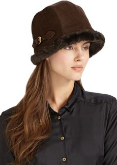 Eric Javits Vail Suede & Faux Shearling Hat