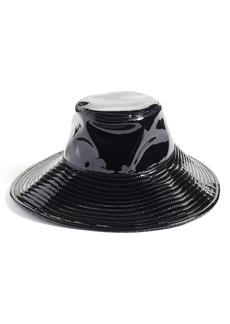Women's Eric Javits Driptidoo Patent Bucket Rain Hat - Black