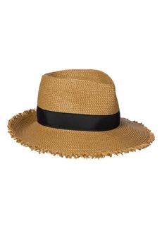 Women's Eric Javits Fringe Pinch Squishee Packable Fedora Sun Hat - Brown