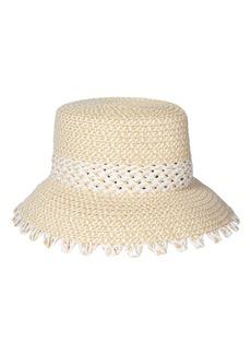 Women's Eric Javits Mita Squishee Bucket Hat - White