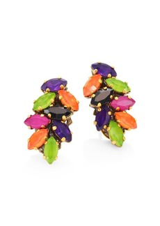 Erickson Beamon Technicolor Crystal Stud Earrings