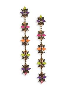 Erickson Beamon Technicolor Crystal Linear Earrings