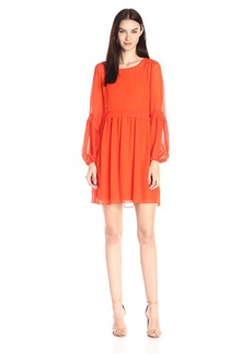 Erin erin fetherston Women's Bell-Sleeve Henriette Shift Dress