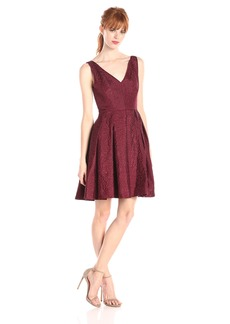 Erin erin fetherston Women's Coco Jacquard Fit-and-Flare Dress