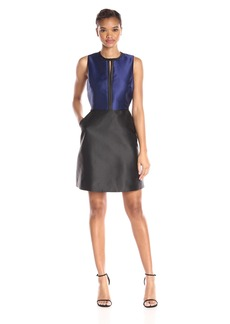 Erin Erin Fetherston Women's Colorblock With Black Piping Eliza Dress