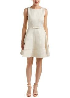 Erin erin fetherston Women's Elsie Herringbone Jacquard Belted Dress