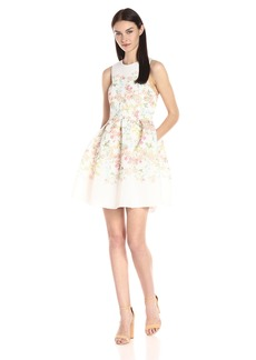 Erin erin fetherston Women's Fit-and-Flare Floral Somerset Dress