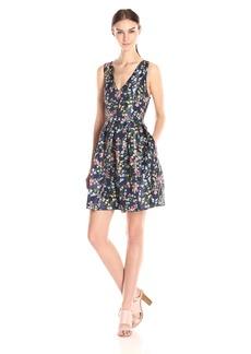 ERIN erin fetherston Women's Floral Fit and Flare Devon Dress