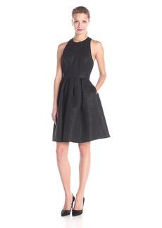 Erin erin fetherston Women's Gigi Tback Herringbone Jacquard Flare Dress