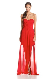 ERIN erin fetherston Women's Gisele Strapless Illusion Hem Evening Gown