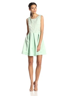 ERIN erin fetherston Women's Hayley Floral Organza Fit and Flare Dress