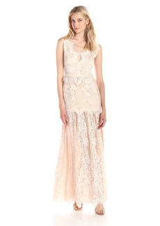 Erin Erin Fetherston Women's Joanna V-Neck Lace Gown