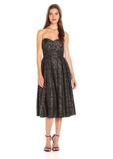 Erin Erin Fetherston Women's Mary Strapless Brocade Dress