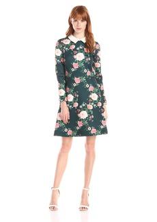 Erin Erin Fetherston Women's MIA Neoprene Print Collar Dress