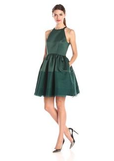 Erin Erin Fetherston Women's Savannah Halter Illusion Hem Dress