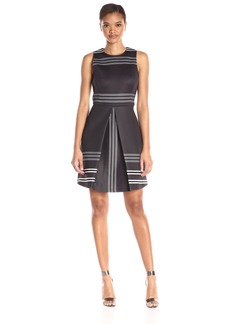 Erin erin fetherston Women's Striped Neoprene Claremont Dress