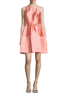 Erin Fetherston Sleeveless Satin A-Line Dress