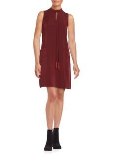 Erin Fetherston Sleeveless Tie-Neck Shift Dress