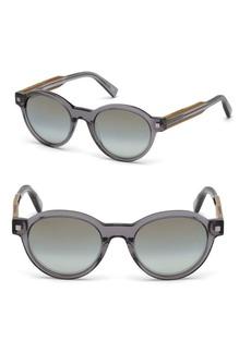 Ermenegildo Zegna 51MM Oval Mirrored Sunglasses
