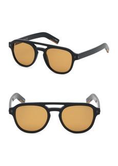 Ermenegildo Zegna 51MM Pilot Sunglasses