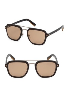 Ermenegildo Zegna 64MM Metal Pilot Sunglasses