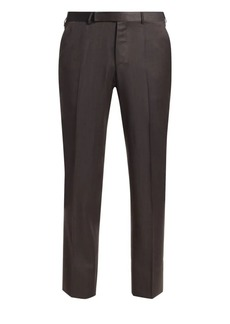 Ermenegildo Zegna Achillfarm Tapered Straight-Leg Wool Trousers