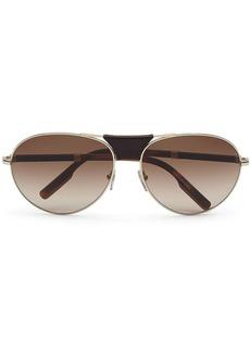 Ermenegildo Zegna aviator-frame tortoiseshell sunglasses