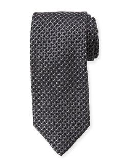 Ermenegildo Zegna Basketweave Stripe Silk Tie