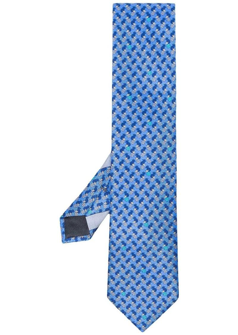 Ermenegildo Zegna blue printed silk tie