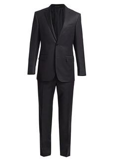 Ermenegildo Zegna Box Plaid Wool Single-Breasted Suit
