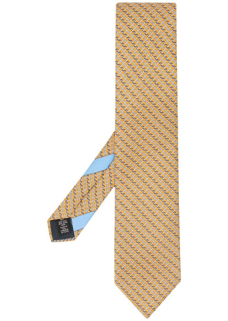 Ermenegildo Zegna chain-link pattern silk tie