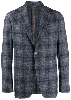 Ermenegildo Zegna checked single-breasted blazer